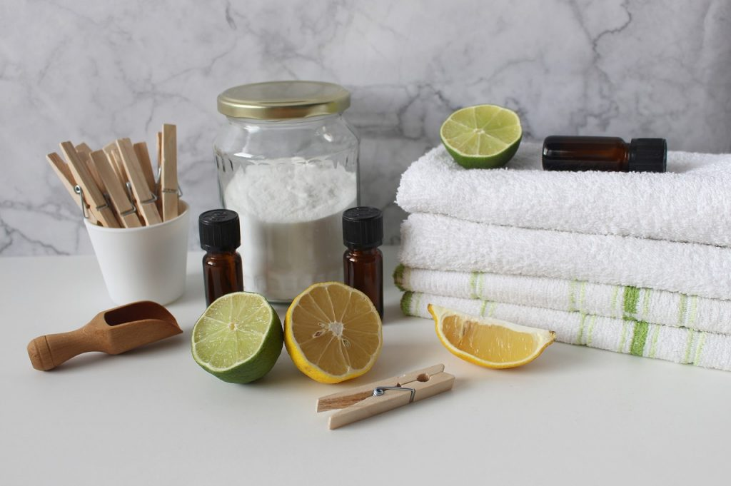 Natural cleaning and laundry materials