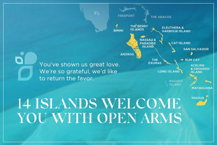 14 Bahamas Islands still open for business
